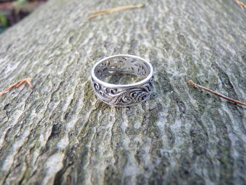 Verlorener Silberring beim Wandern verloren und wiedergefunden.